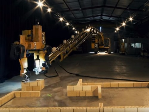 A one-armed Australian robot can build a house four times quicker than a human