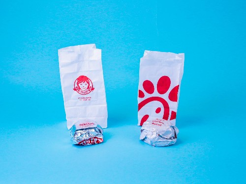 Wendy's and Chick-fil-A breakfast chicken biscuit comparison