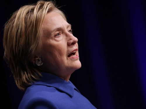 Hillary Clinton gave an emotional speech in her first appearance since conceding the election