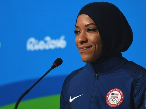Fencer is the first American to compete in the Olympics wearing a hijab