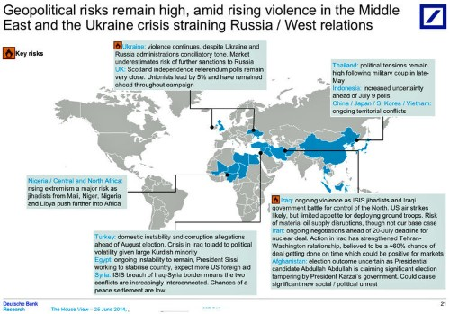 Here Are The Key Geopolitical Risks That Threaten To Rock The Markets