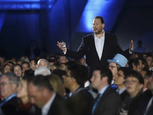 Almost half of Salesforce shareholders voted against CEO Marc Benioff's $39 million pay package