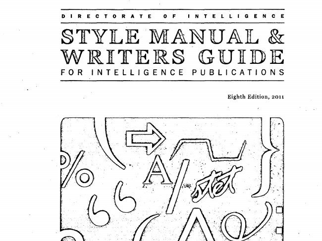 The CIA's Style Guide Is Surprisingly Good