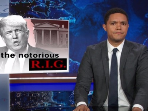 Trevor Noah: Donald Trump is 'right' that the election is rigged