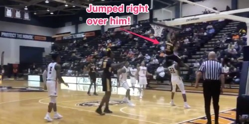 Top NBA prospect Ja Morant leapt over his defender for one of the most insane dunks of the year