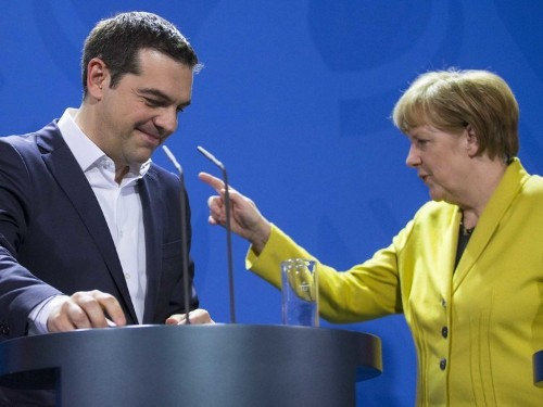 Greece's finance minister thinks a speech in Greece by Angela Merkel is the answer to its debt crisis