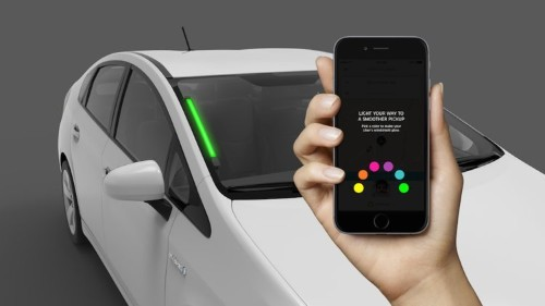 Uber cars in Seattle will have a bright color-coded light to let you know which car is yours