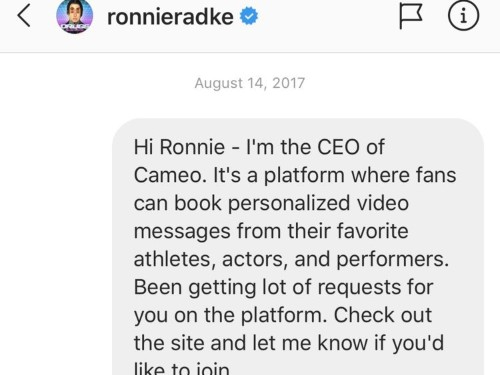 Tips for messaging celebrities, influencers using Instagram: Cameo CEO