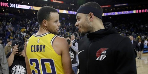 Stephen Curry and Seth Curry have an epic bet on the line when they go head-to-head in the NBA's 3-point shooting contest