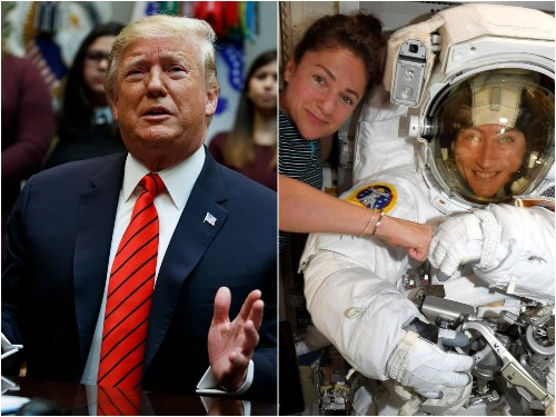Trump wrongly tells female astronauts they're first women to spacewalk - Business Insider