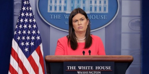 Sarah Huckabee Sanders admitted she made up a claim that FBI agents lost faith in Comey, according to the Mueller report