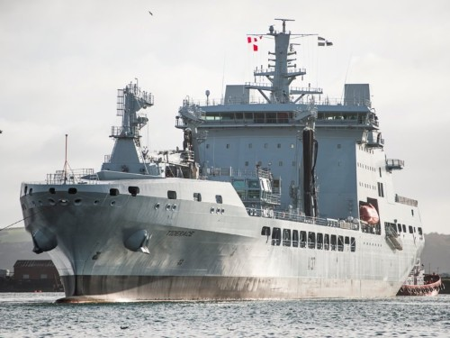 This is Britain's latest military ship, the sidekick to its massive new aircraft carriers