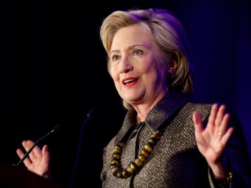 Hillary Clinton is linking Donald Trump to Marco Rubio