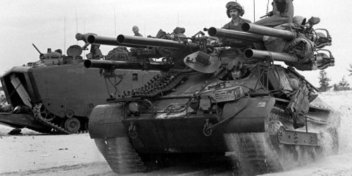 This 1950's infantry fighting vehicle had 6 M40 106mm recoilless rifles