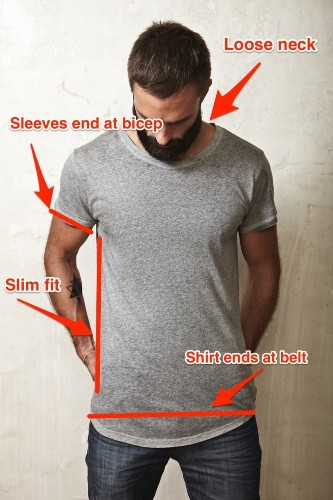4 rules for how a T-shirt should actually fit you