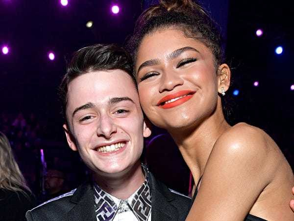 Noah Schnapp met Zendaya at People's Choice Awards and fans loved it - Business Insider