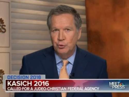 Chuck Todd confronts John Kasich about 'Judeo-Christian values' agency: 'Tell me why I'm wrong'