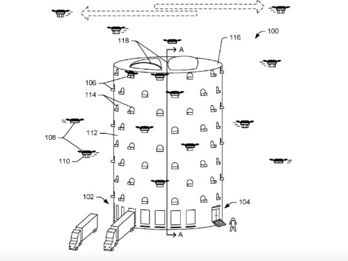 Amazon has applied to patent a beehive-like drone tower