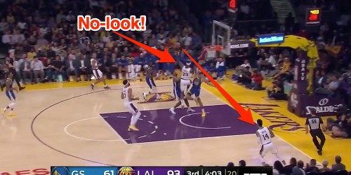 LeBron James threw an incredible, no-look pass while falling down - Business Insider