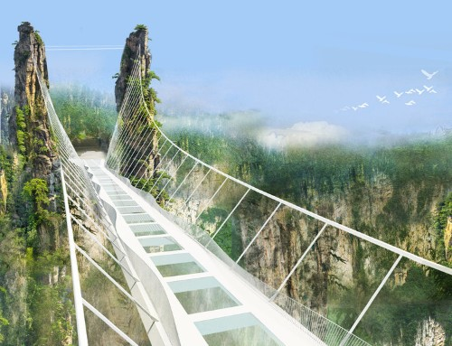 China is about to open a terrifying 984-foot-high glass bottom bridge
