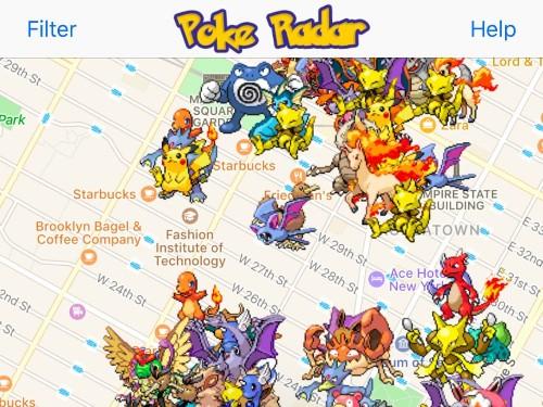 How to find pokemon with Poke Radar app