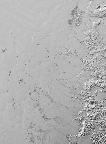 The latest Pluto image reveals what looks like icebergs in a sea of frozen nitrogen