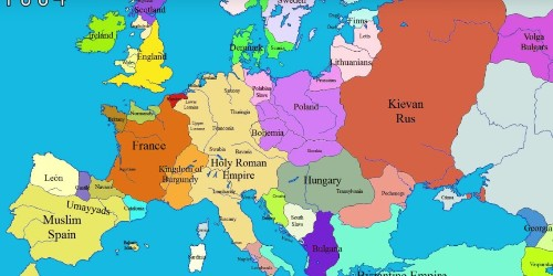 Video showing Europe's border change over time