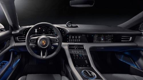 Porsche reveals interior of Taycan electric sports car