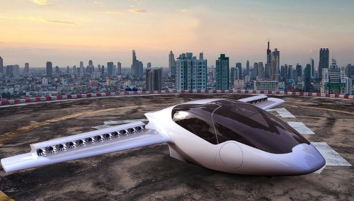 This electric jet can take off vertically but drives like a car