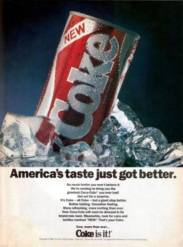 This Is What 'New Coke' Actually Looked Like In 1985