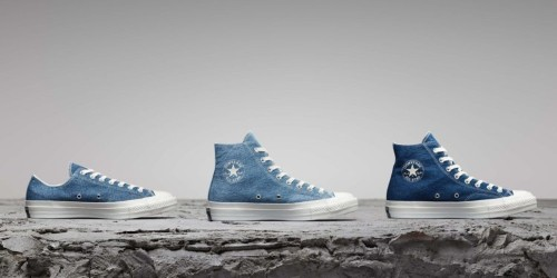 Converse is upcycling old jeans to make these sneakers, so no two pairs are identical