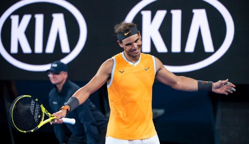 Rafael Nadal hit his head on a camera minutes before French Open match