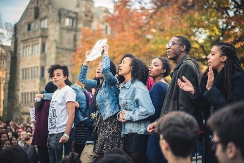 A free-speech conference inflamed racial tension at Yale University and drew protesters