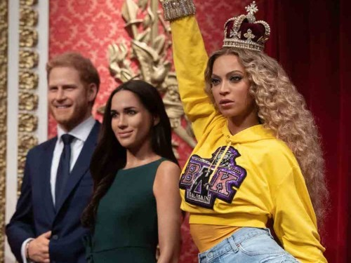 The Queen was replaced by Beyoncé in Madame Tussauds' royal display because she's 'music royalty'