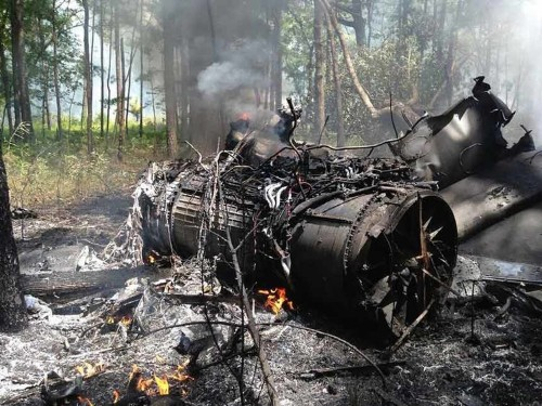 Two dead after an F-16 collided with a small plane over South Carolina