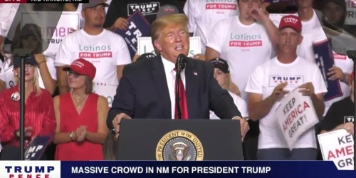 Trump asked a supporter at a rally in New Mexico who he loved more: 'The country or Hispanics?'