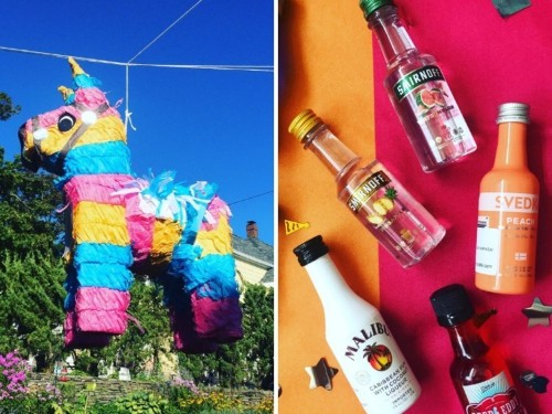 You can buy piñatas filled with mini bottles of alcohol and candy chasers