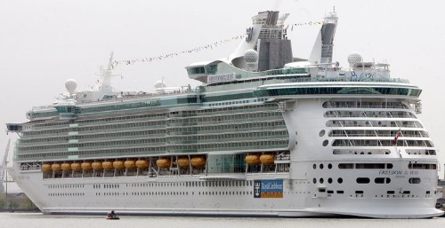 A toddler has died after falling 11 stories from a Royal Caribbean cruise ship