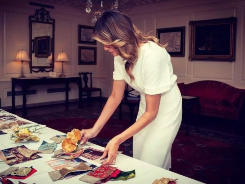Melania Trump shared photos of White House Christmas planning in July