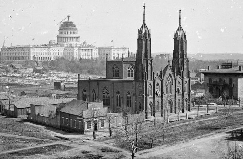This Is What The US Capitol Dome Looked Like When It Was Being Built During The Civil War