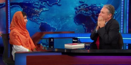 Here's The Moment When Nobel Peace Prize Winner Malala Yousafzai Left Jon Stewart Speechless