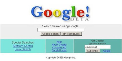 What Google, Facebook, Apple, and other popular websites used to look like