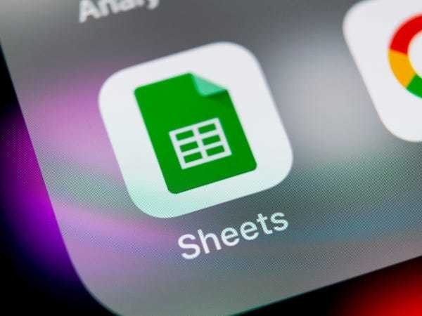 How to add a drop-down list in Google Sheets to group data - Business Insider