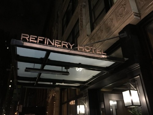 I spent the night at the Refinery Hotel, my new favorite boutique hotel in NYC
