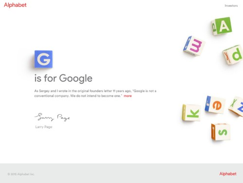 Google has a new corporate homepage, a new typeface, and new branding — take a look