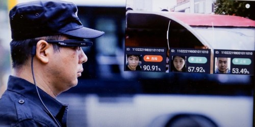 Beijing police are using facial-recognition glasses to identify car passengers and number plates