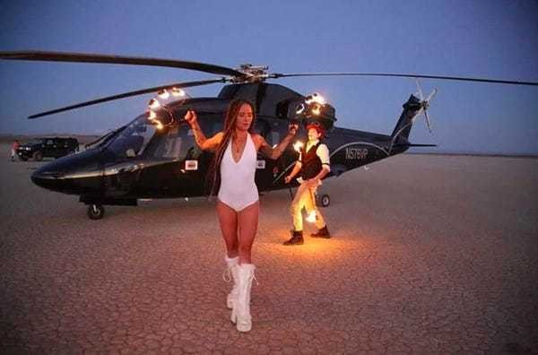 Burning Man airport welcomes private helicopters to the playa - Business Insider