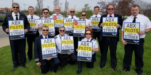 Amazon Air pilots are picketing the company's annual shareholder meeting as they fight for better pay