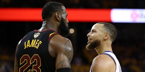 LeBron James told Stephen Curry to 'get the f--- out' of his face after a lighthearted joke from Curry following a blocked shot