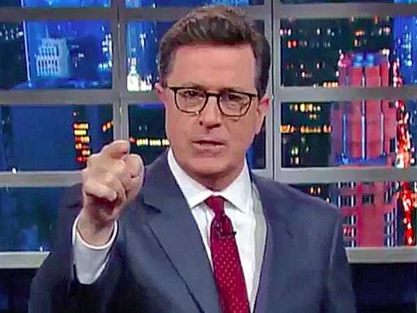 Stephen Colbert unleashes all-out Trump takedown - Business Insider